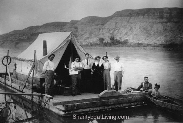 Their inspiration: The American Museum of Natural History scow Mary Jane on the Red Deer River, Alberta, Canada, in 1912.