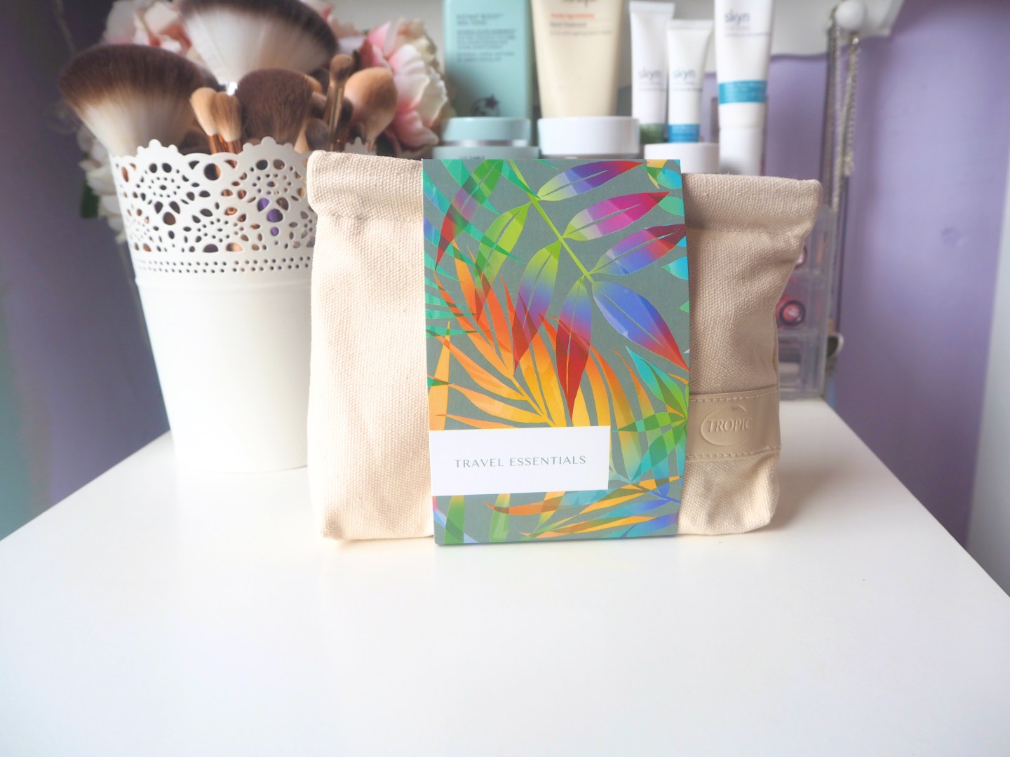 testing out tropic skincare