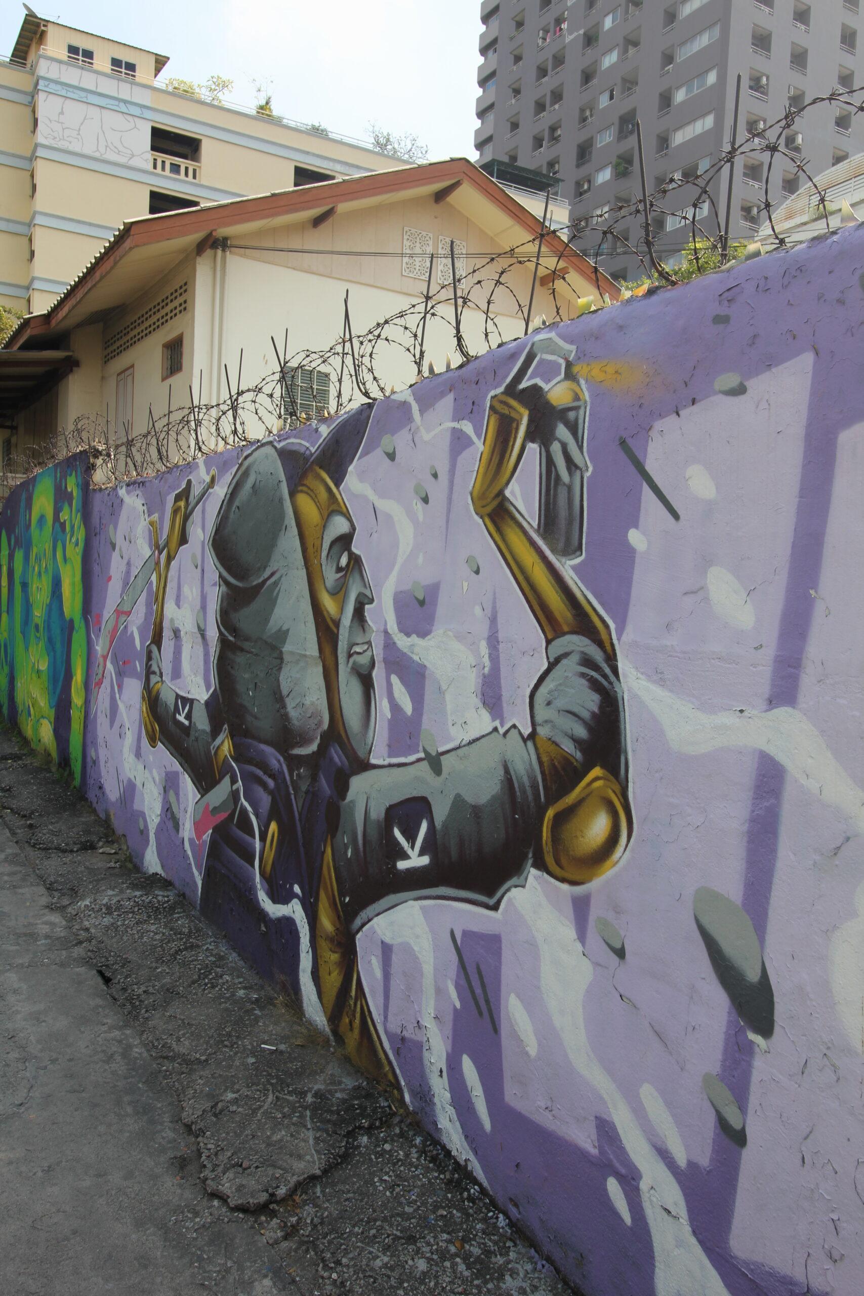 riverside mural bangkok