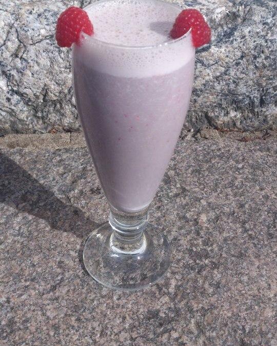 Helens jordgubbs smoothie.