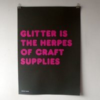 because studio: glitter herpes.