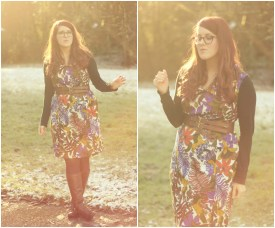 Vintage horse print dress | shapedbystyle.wordpress.com