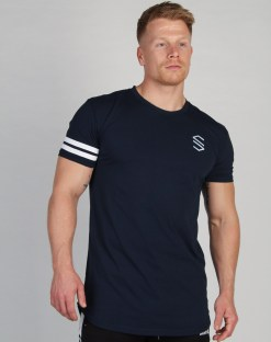 Shaped Striped T-shirt Navy
