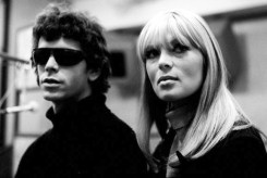 Lou Reed and Nico in the recording studio with The Velvet Underground. --- Image by © Steve Schapiro/Corbis