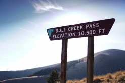 Bull Creek Pass Sign