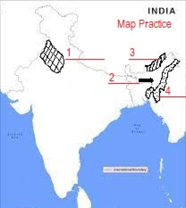 CBSE CLASS 10 TERM I GEOGRAPHY: MAP QUESTIONS ON SOILS IN INDIA