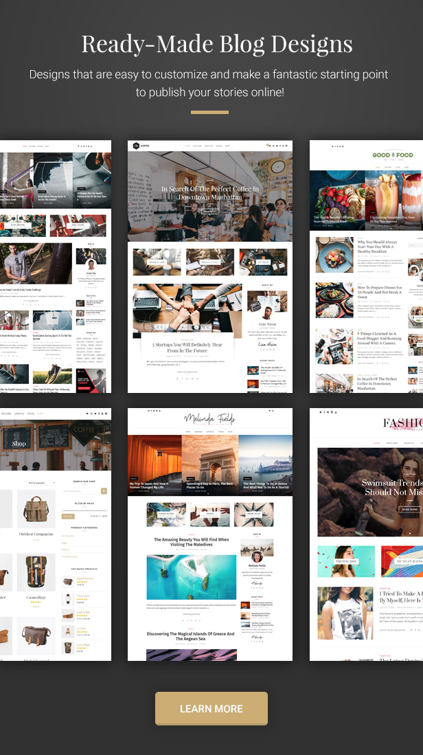 WordPress Blog Demos