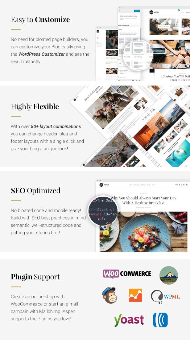 Aspen WordPress Blog Features