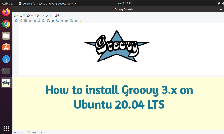 install groovy