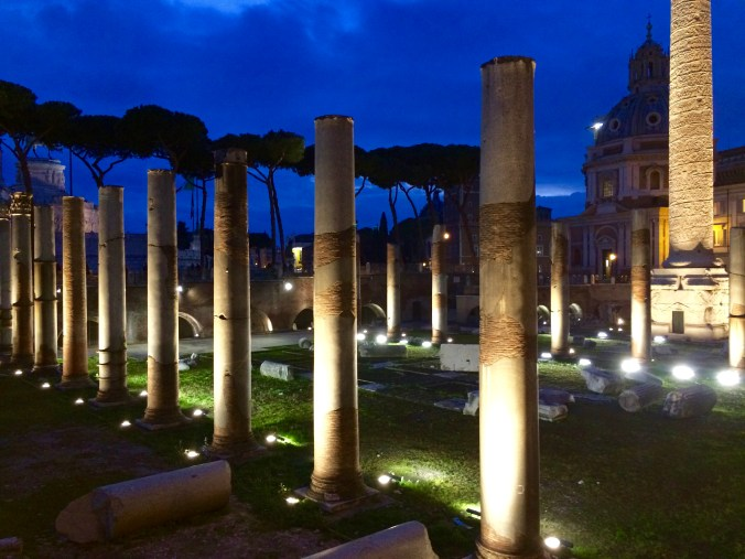 Columns of Basilica Ulpia near Trajan Column