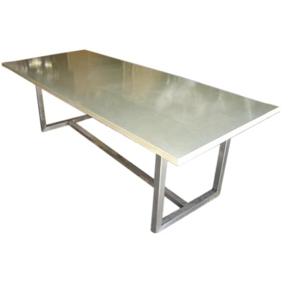 Concrete Top Dining Table