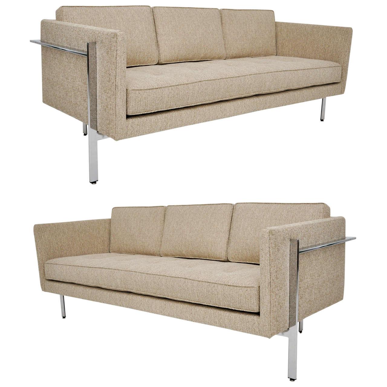 mid century milo baughman sofa