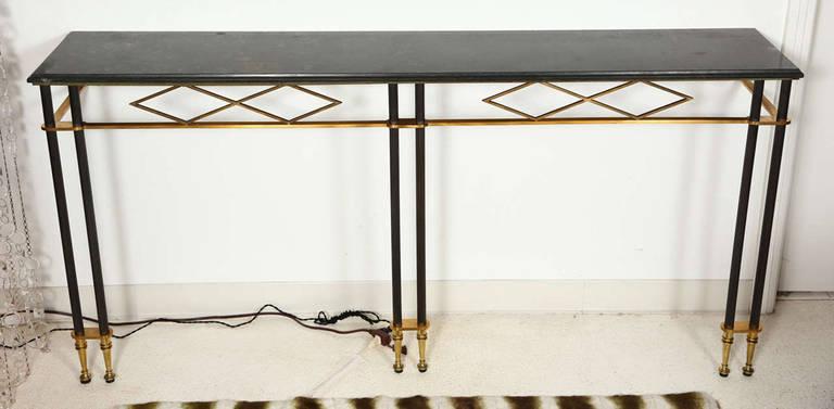 Narrow Wall Mounted Console Table By Jules Leleu At 1stdibs