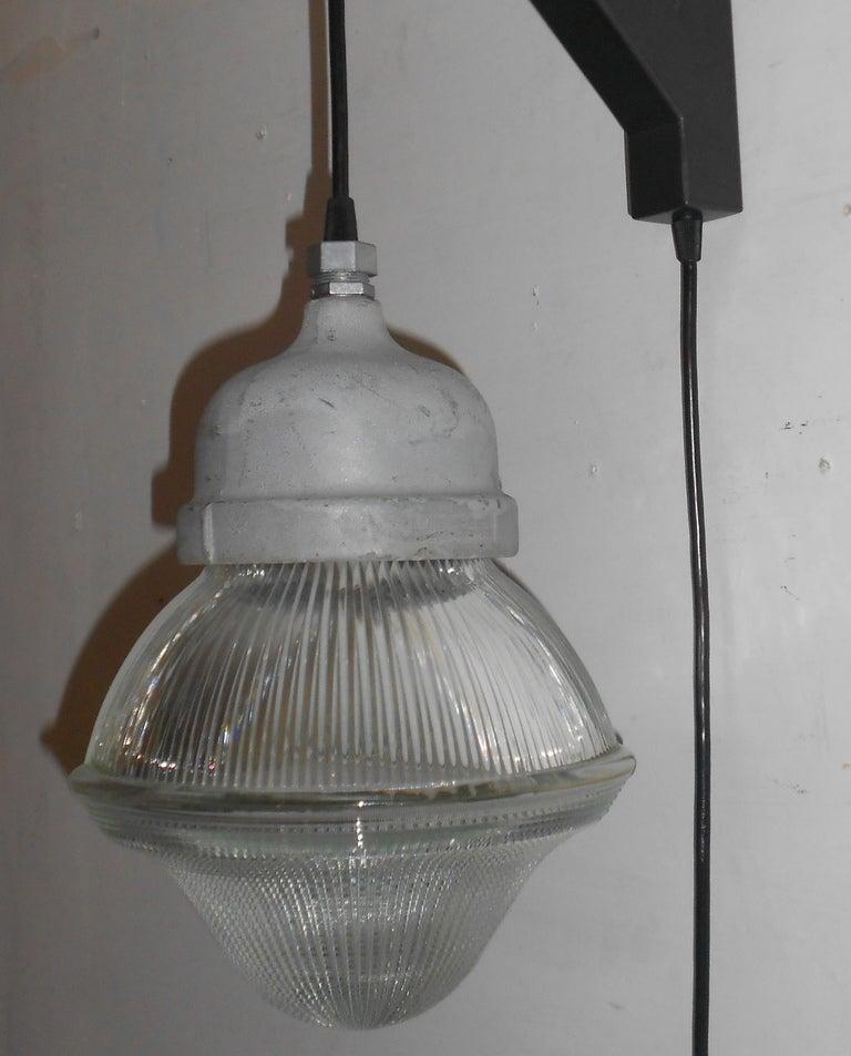 Holophane Acorn Pendant Light With Plug In On Wall Bracket