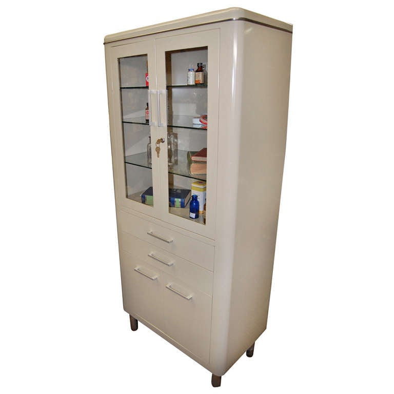 Mid Century Dental Medical Cabinet At 1stdibs