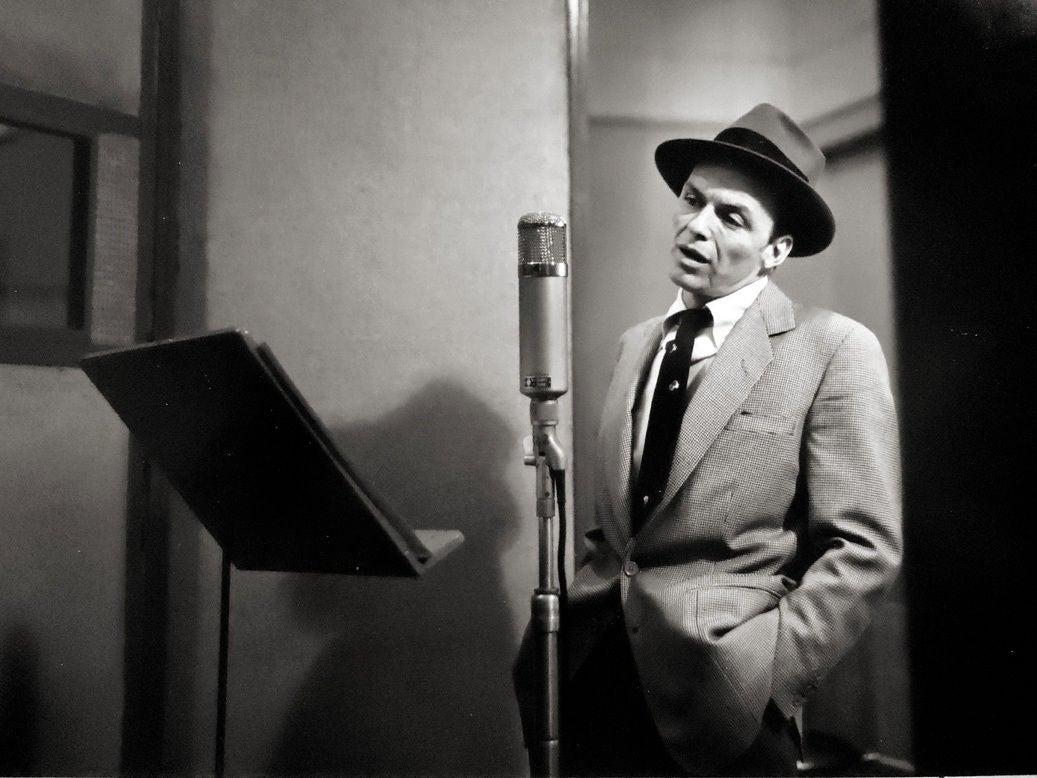 Herman Leonard Frank Sinatra New York City Recording
