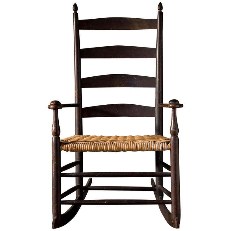 Ladder Back Shaker Rocking Chair At 1stdibs
