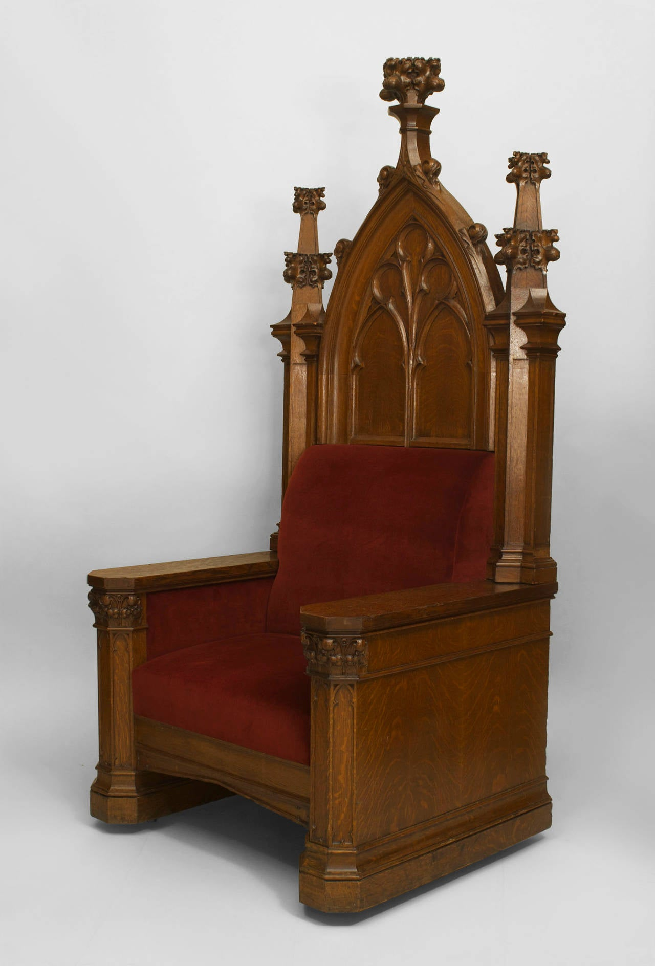 Oversized Turn Of The Century English Gothic Revival Throne At 1stdibs