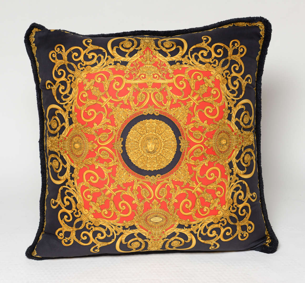 Oversized Atelier Versace Pillow Double Sided At 1stdibs