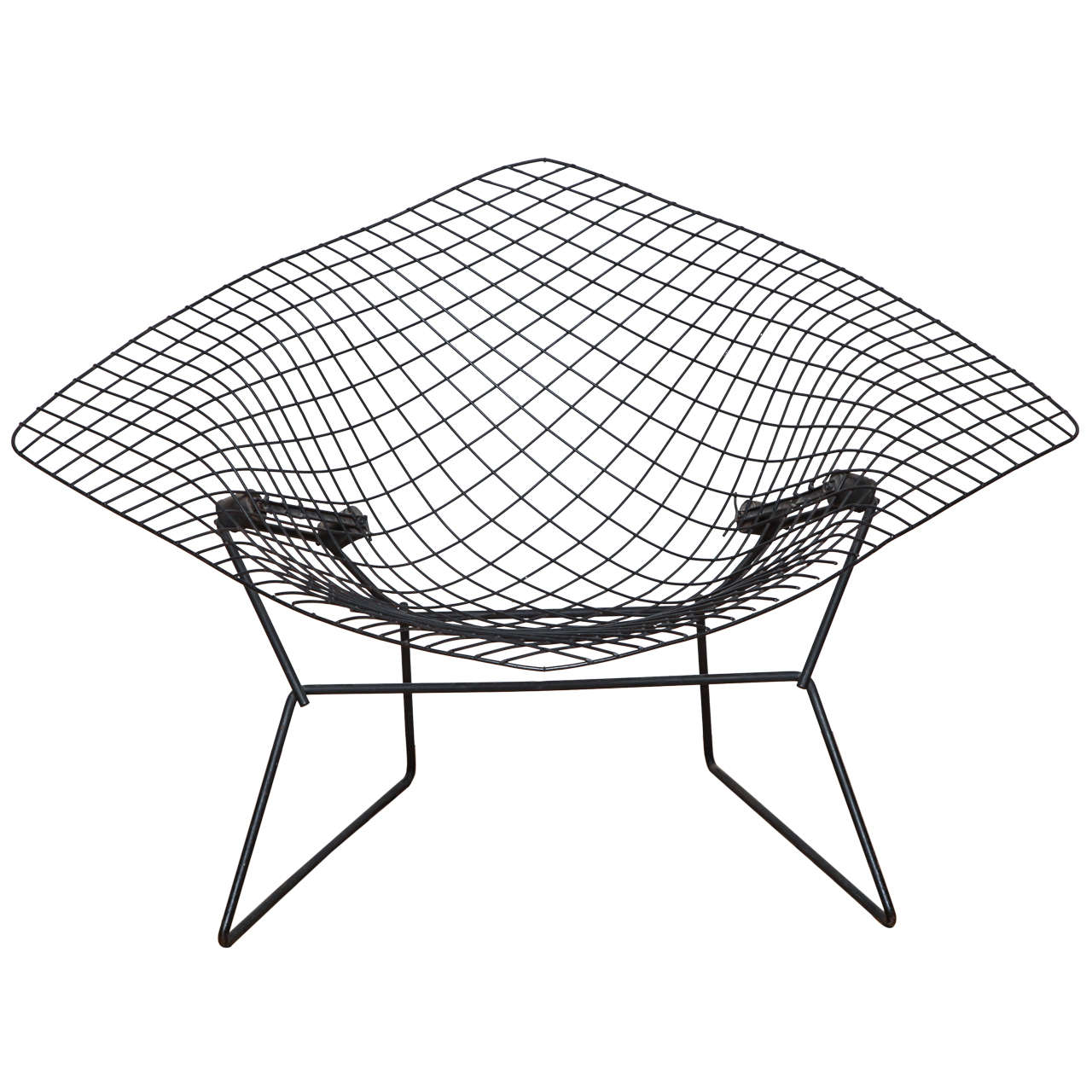 Large Bertoia Diamond Lounge Chair With Seat Pad For Knoll At 1stdibs