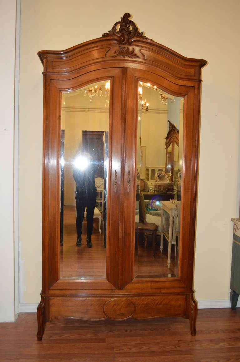 Louis XV Style Walnut Armoire At 1stdibs