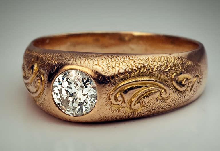 Mens Diamond Ring 1920s At 1stdibs