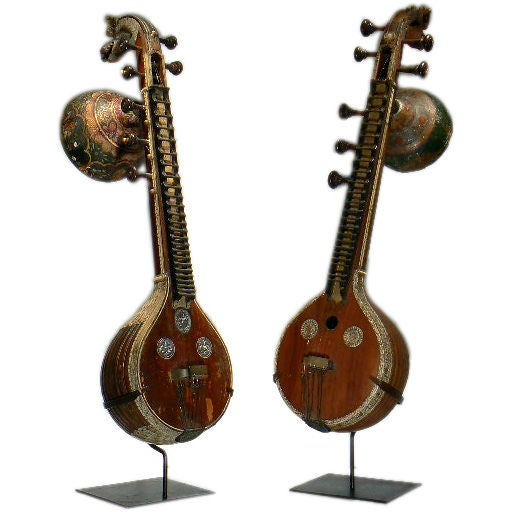 Pair Indivdual Exotic Musical Instruments At 1stdibs
