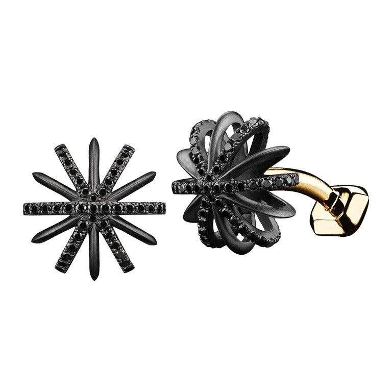 Black Diamond Snowflake Cufflinks