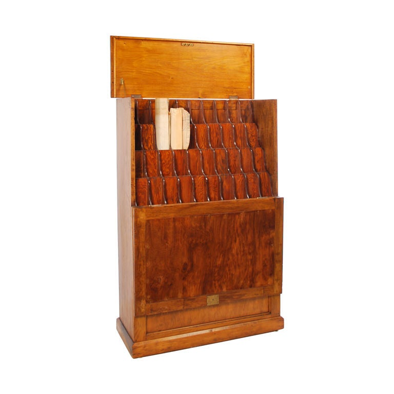 Map Cabinet Chart Rack At 1stdibs