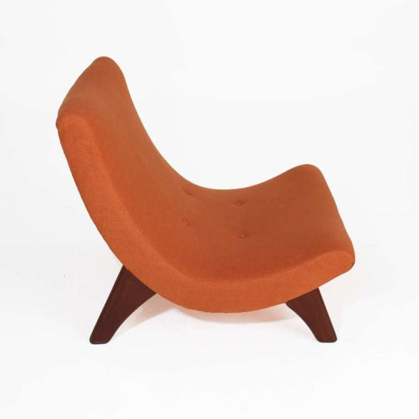 Large Scale Walnut Scoop Lounge Chairs attributed to ...