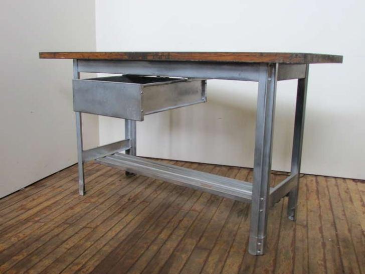 Industrial Kitchen Work Table 1stdibs