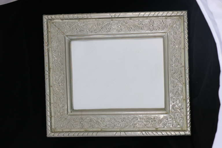 Hollywood Regency Glamour Repousse Silver Overlay Picture