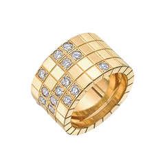 219e40ea904 Cartier Gold  amp  Diamond  quot Lanières quot  Band Ring