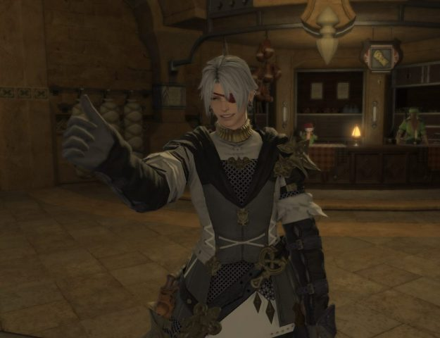 The Rakuno from Leviathan doing a thumbs-up