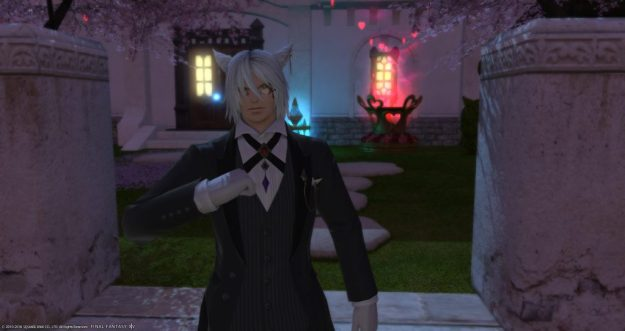 Rakuno dressed as a butler