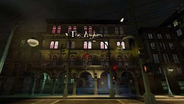 Front of The Asylum nightclub