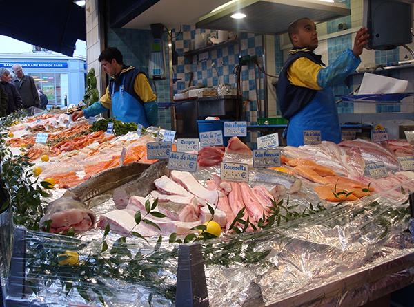 Variedad de pescado ofrecida en el mercado (NOAA)