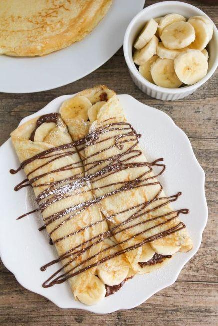 banana crepe