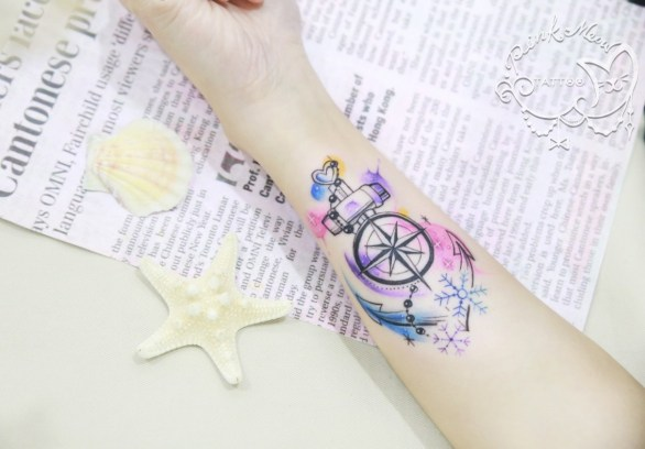Pink Meow Tattoo20