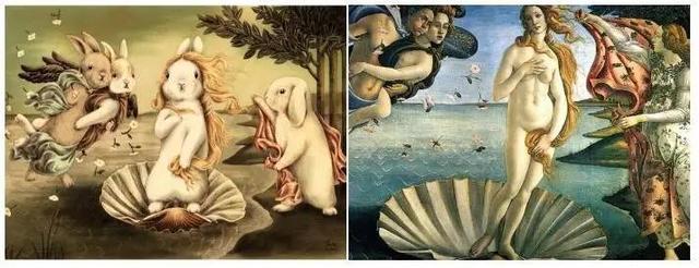 Shae維納斯兔誕生vs波提切利