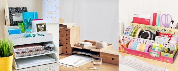 desk storage organization