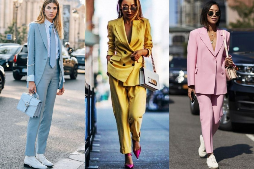 大膽嘗試特殊顏色,顛覆西裝總是暗色、沉穩的感覺,顯得時尚大方。