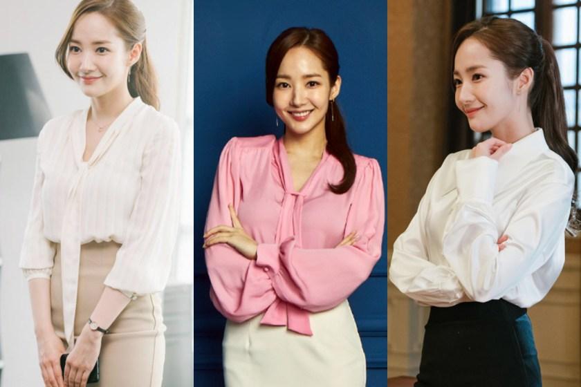 襯衫和窄裙,是最安全的 OL 穿搭,簡單營造出女人味的氣息。