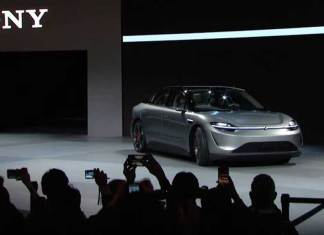 Sony launched its first electric car at CES 2020