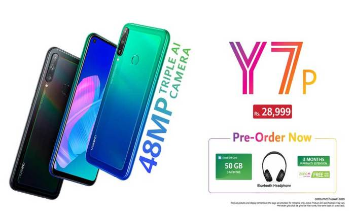 HUAWEI Y7p Opens for Pre-booking in Pakistan exclusive gifts and offers