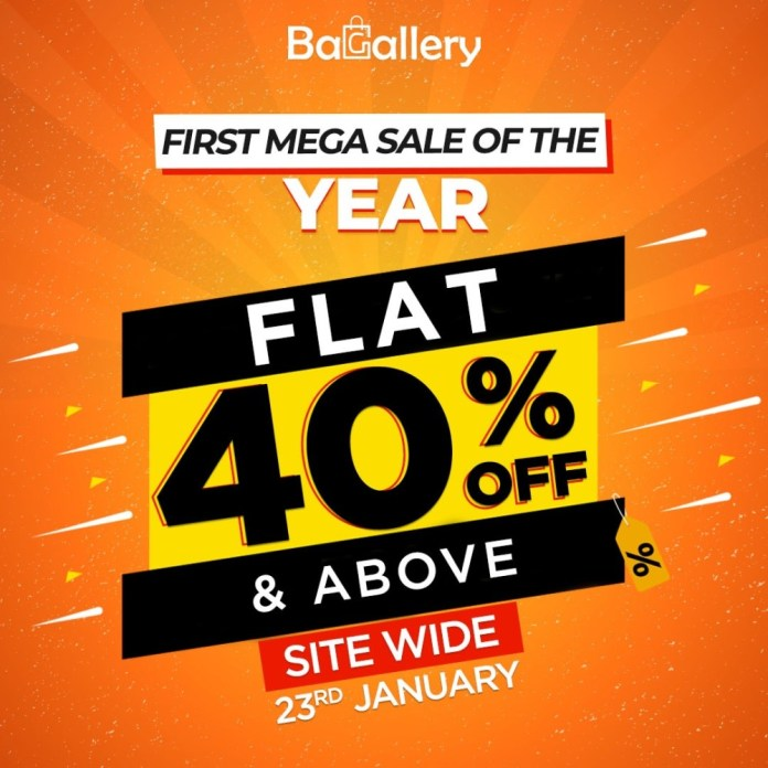 Bagallery presents the 1st Mega Sale of the Year: Flat 40% & above