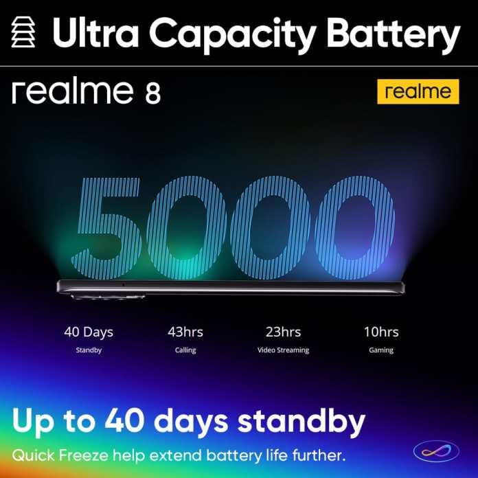 realme 8 5000mAh battery