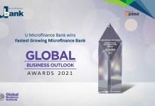 U Microfinance Bank Ltd. Wins Fastest Growing Microfinance Bank in Pakistan at Global Business Outlook Awards 2021
