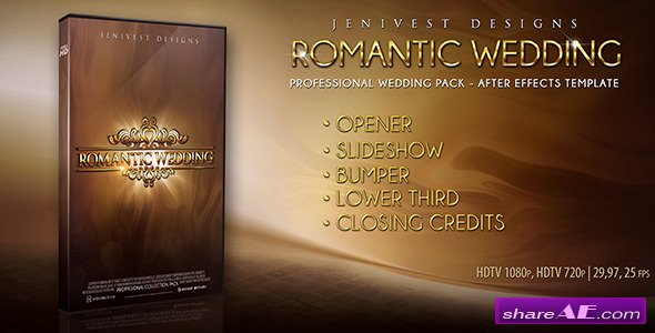 Romantic Wedding After Effects Project Videohive Free After Effects Templates After