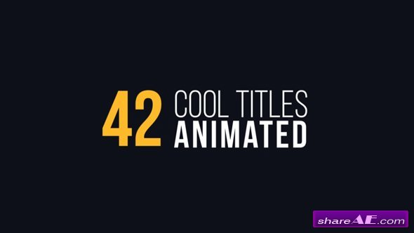movie credits template after effects